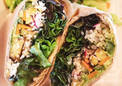vegetarian-tempeh-quinoa-veggie-wrap